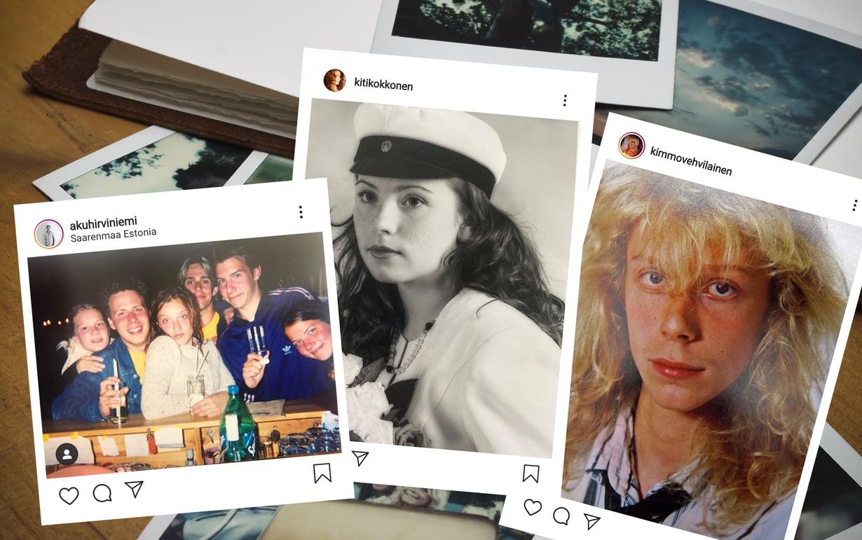 Ketäs kaikkia näissä kuvissa näkyykään?