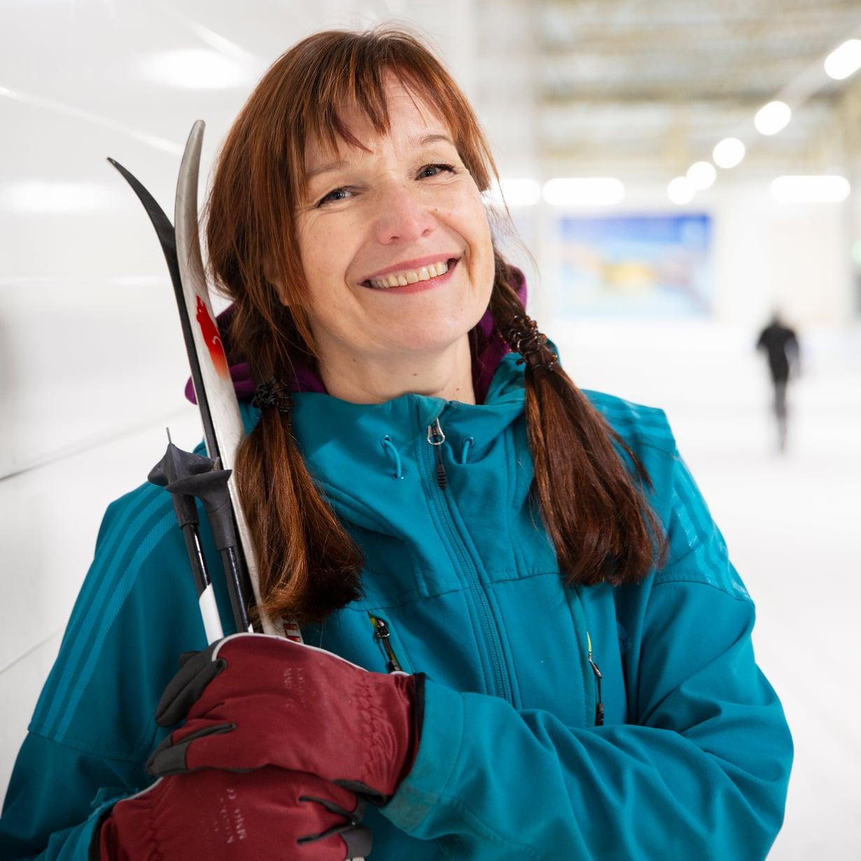 Johanna Vuoksenmaa kuvailee itseään urheilijana suomenhevostyypiksi.