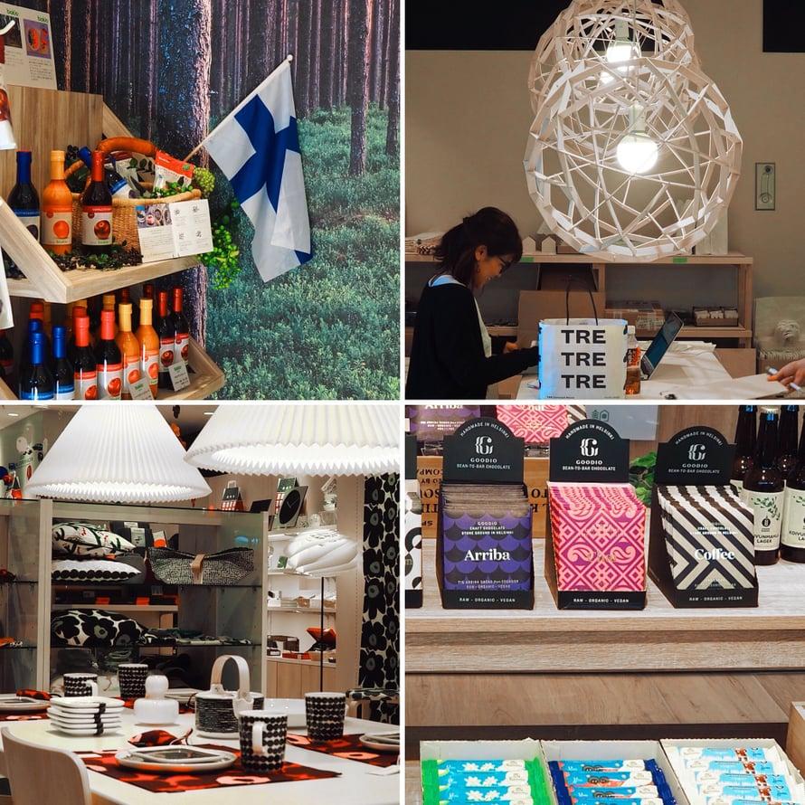 Suomalaisia tuotteita löytyy Metsäkylästä valtavasti.