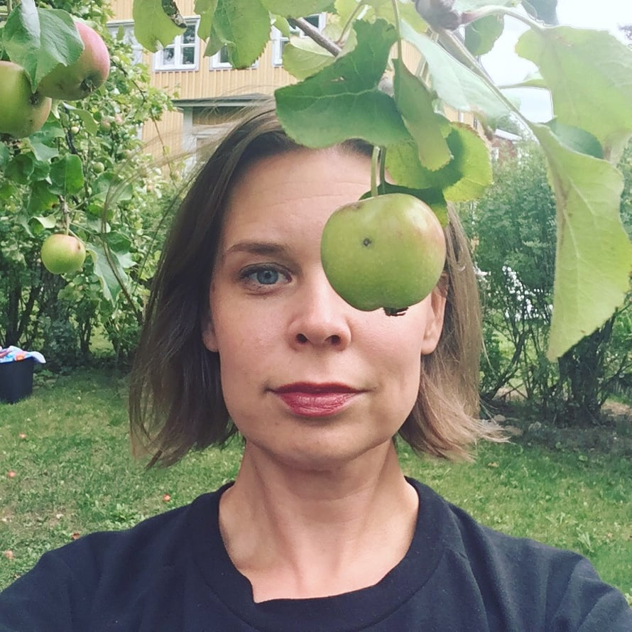 Omenalla silmään, joka hilloista haaveilee.