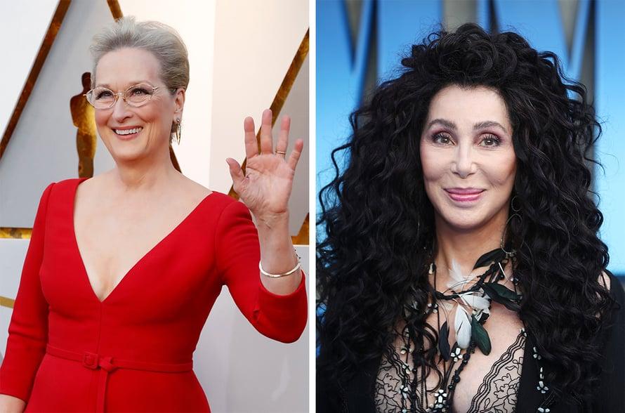 Meryl Streepillä ja Cherillä on vain 3 vuotta ikäeroa.