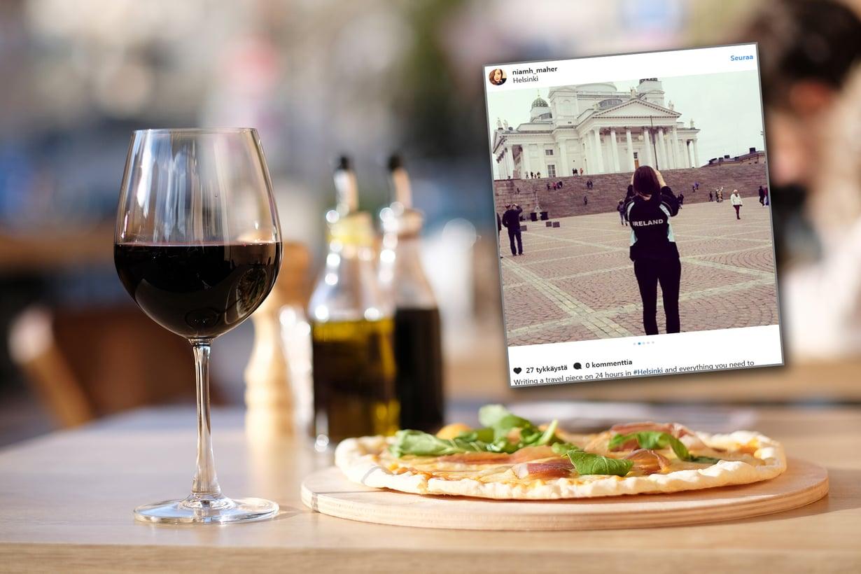 Tarvitaanko viinille oma matkabudjetti Helsinkiin? Kuvat: Shutterstock ja Instagram