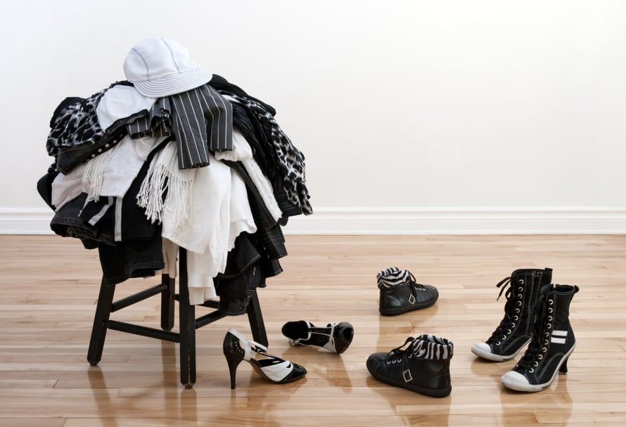 Mieti myös, missä säilytät puolipitoiset vaatteet.