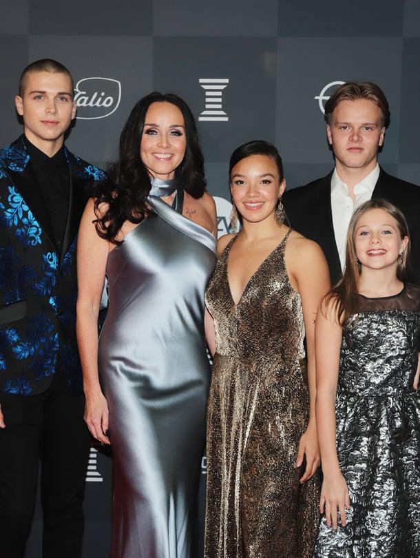 Anitra Ahtolan lapset Alex, Anina ja Yasmin ovat menestyneet tanssikisoissa. Mukana Urheilugaalassa oli myös poika Oskar.
