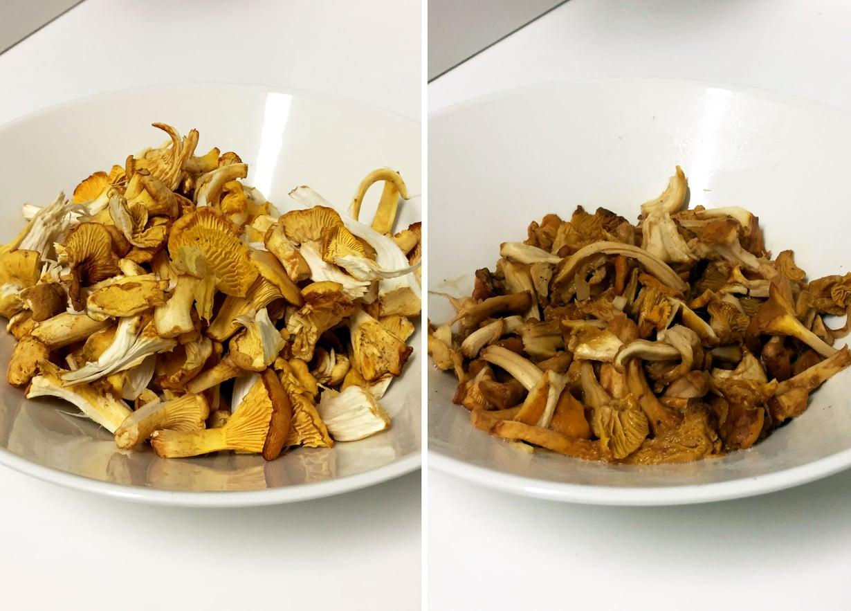 Sienten Paistaminen