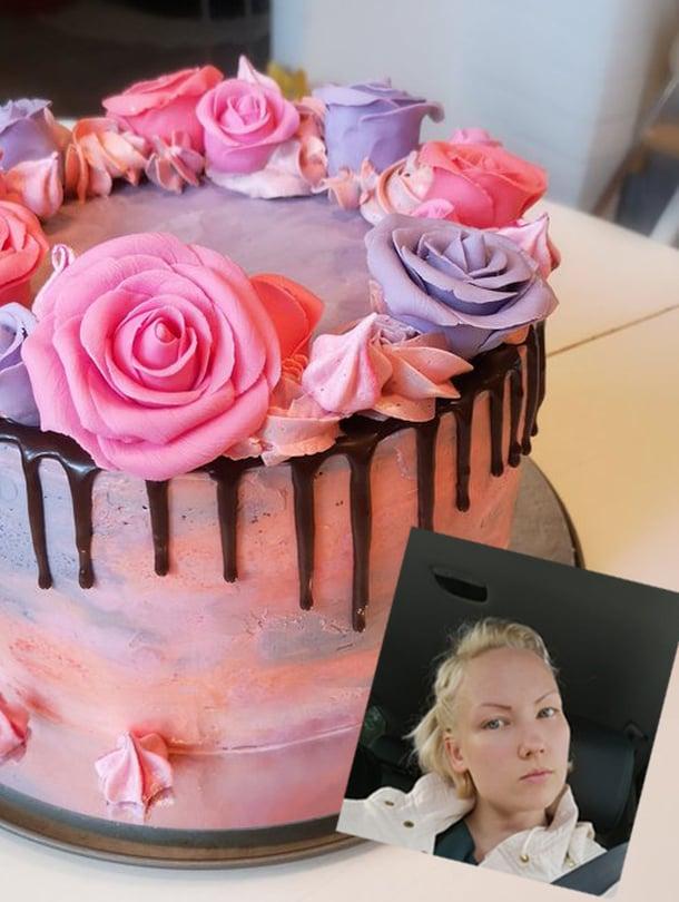 """Emma tykkää leipoa, koristella ja tehdä pikkutarkkaa jälkeä. Kuva: <span class=""""photographer"""">emmaleipoo.com</span>"""