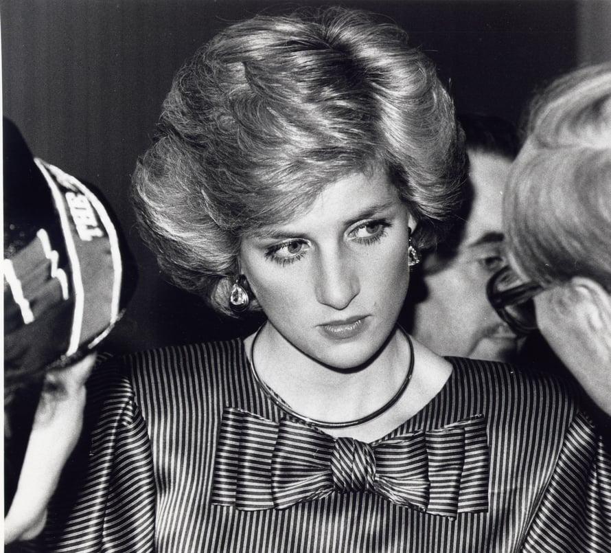 Palloksi föönattu, pehmeä kampaus oli Dianan suosikki vuonna 1985.