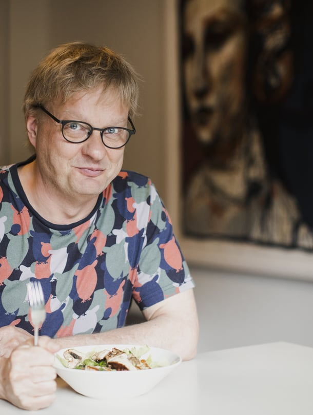 """Muusikko Iiro Rantala ei kaipaa ruokahifistelyä. Kuva: <span class=""""photographer"""">Johanna Jarva.</span>"""