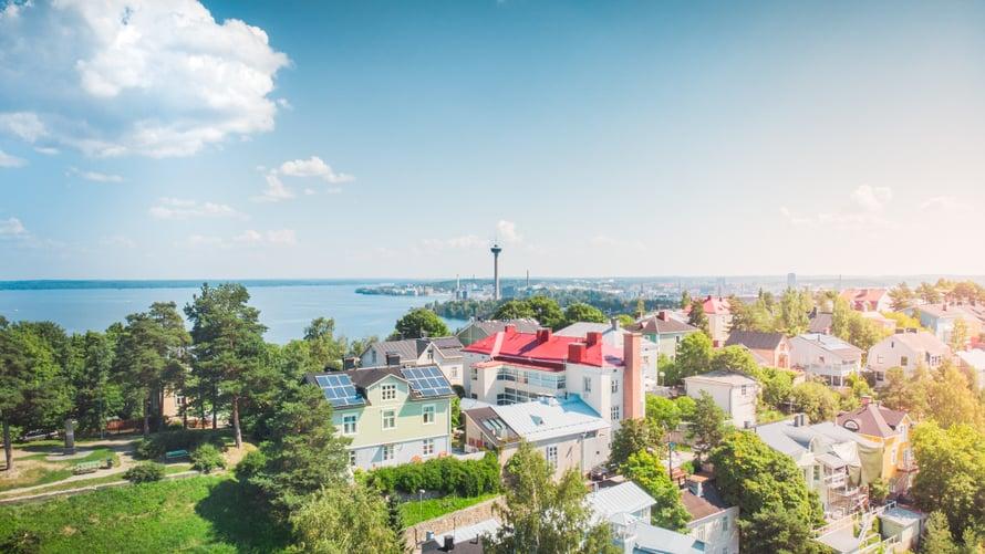 Pispalan kaupunginosa on supersuloinen. Kuva: Visit Tampere / Laura Vanzo