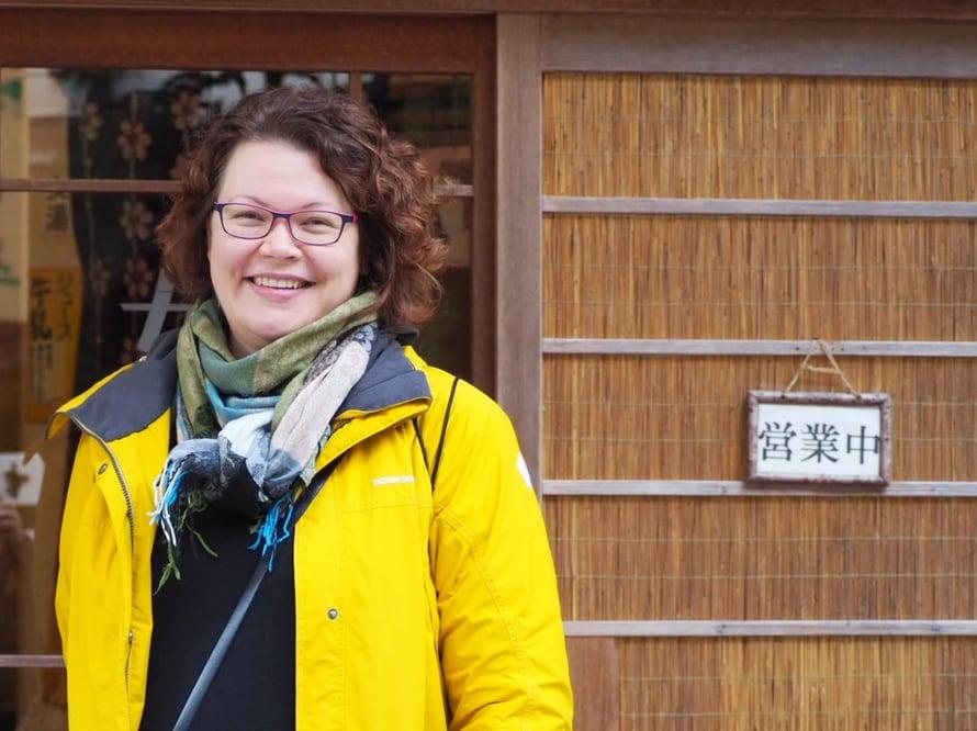 Anna-Kaisan päivärutiineihin Japanissa kuuluu onsenissa käynti.