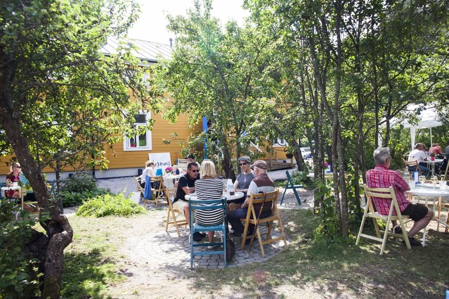Köpmansilla Nauvossa on oma puutarhansa.