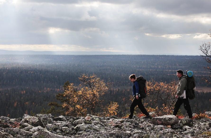 Pyhä-Luoston huipulta avautuvat upeat näkymät. Kuva: Sanoma-arkisto / Tea Karvinen