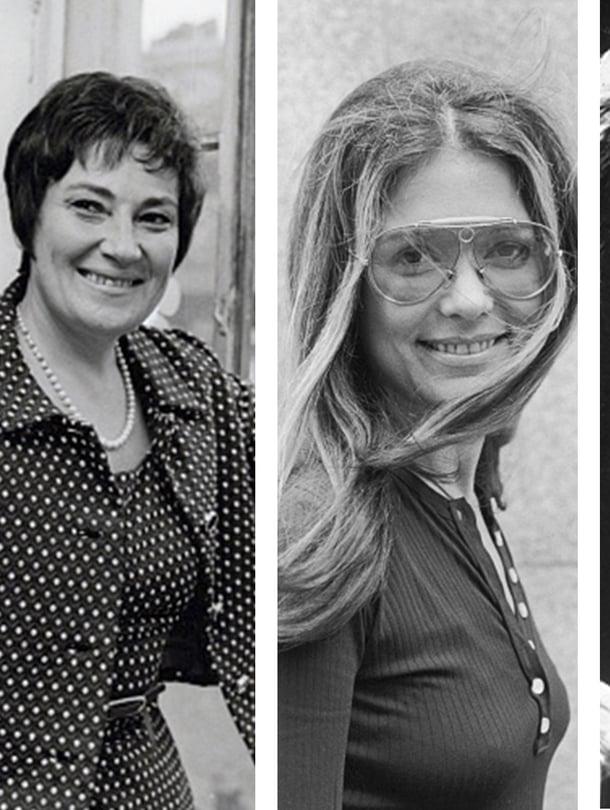 Shirley Chisholm (vas.), Bella Abzug, Gloria Steinem ja Betty Friedan muistuivat ihmisten mieliin Mrs. America -sarjan ansiosta. Vain Steinem on enää elossa.