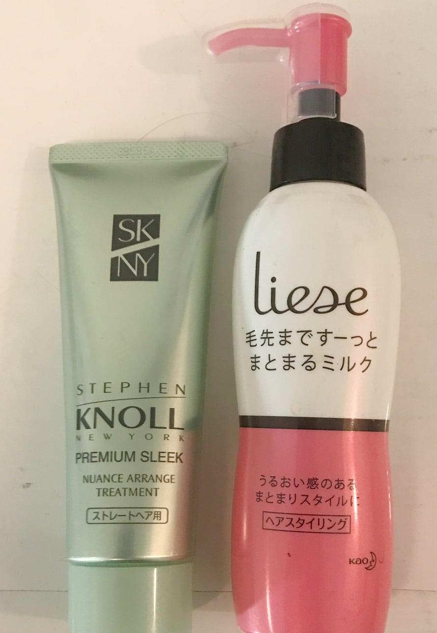 Stephen Knollin ja Liesen suoristushoidot ovat myös suosikkejani. Laitan molempia aamuisin tipan hiuksiin tai vain toista.