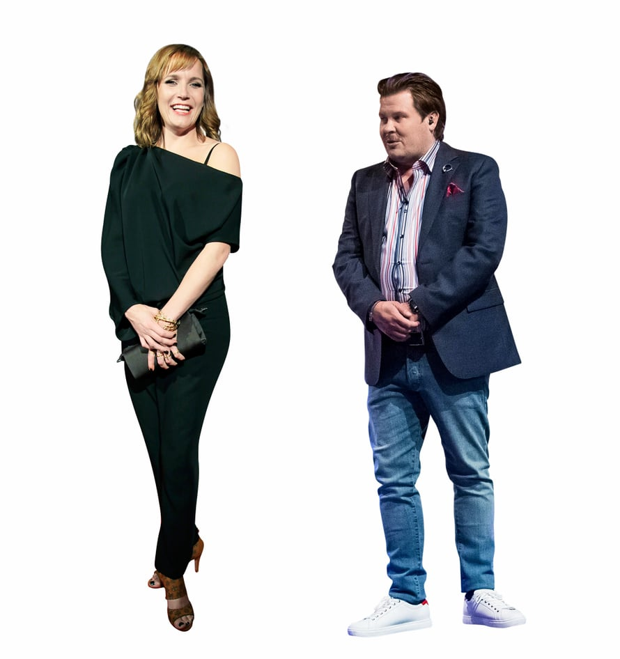 Napakymppi-kollegoilla Niina Lahtisella ja Janne Katajalla on pituuseroa muutama sentti. Niina on samanpituinen kuin Cheek ja Kimi Räikkönen.