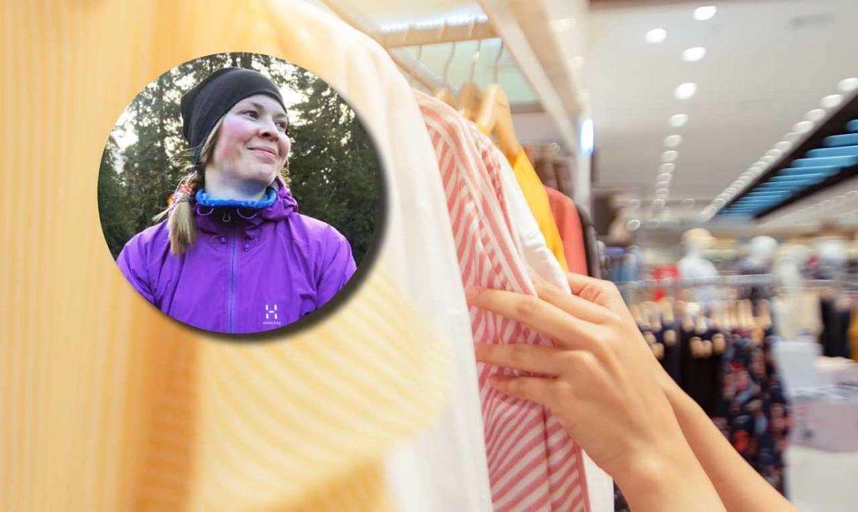 Ostolakon jälkeen yksikään vaate ei ole unohtunut kaappiin, Essi sanoo. – Olen oppinut kunnioittamaan omistamiani vaatteita ja huoltanut niitä paremmin. Kuvat: Essi Koski-Harja