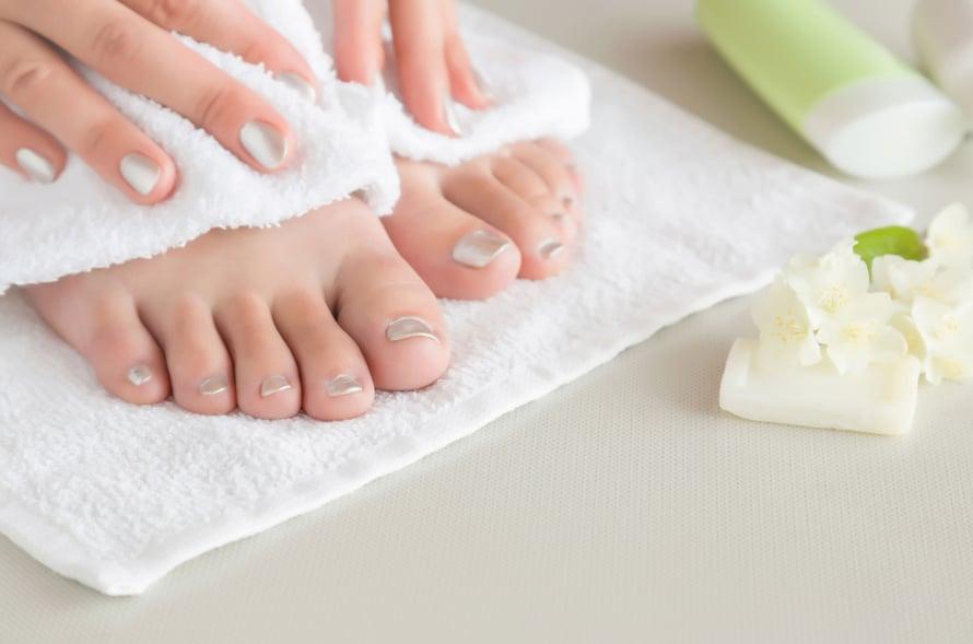 Jalat voivat hyvin, kun ne pesee ja kuivaa joka päivä.