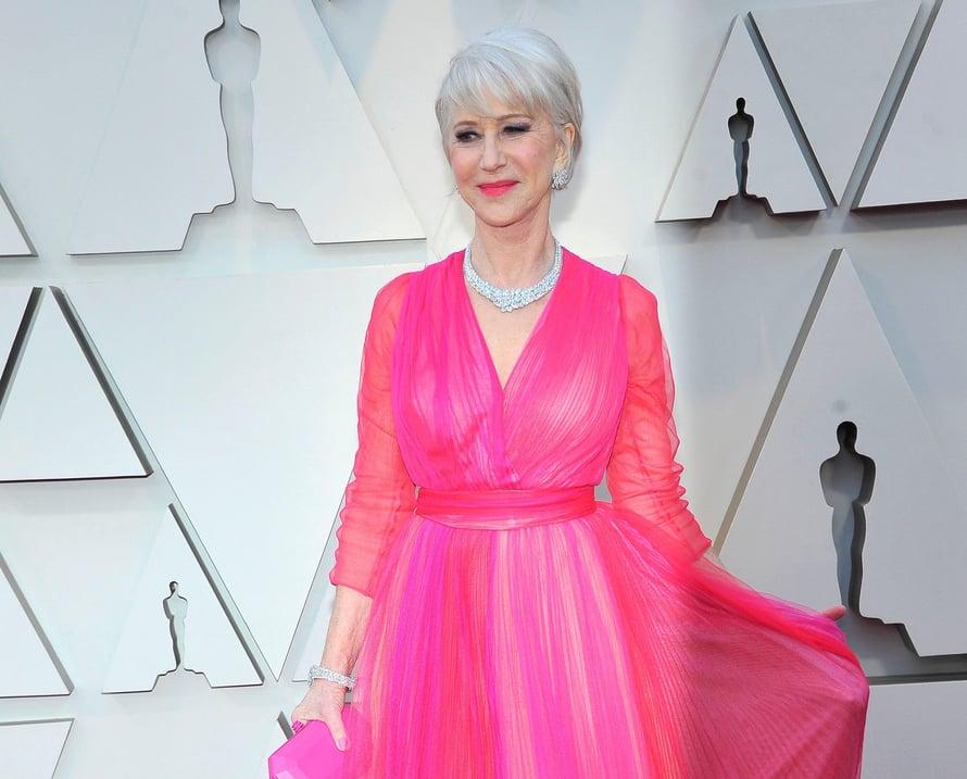Näyttelijä Helen Mirren hurmasi pinkissä. Kuvat: Reuters