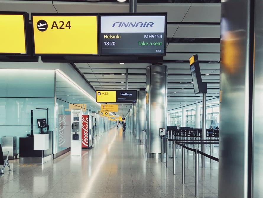 Finnairin koneessa oli noin 15 matkustajaa.