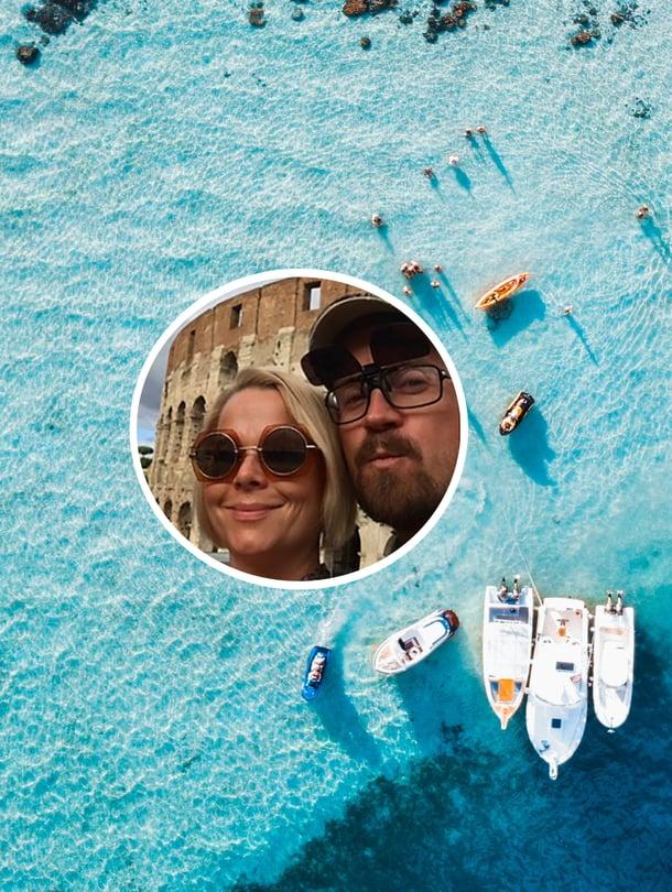 """Meira ja Sami Tabell muuttavat Tahitille, joka sijaitsee Ranskan Polynesiassa Tyynellämerellä. He aikovat ostaa katamaraanin eli kaksirunkoisen purjeveneen, jossa aikovat myös asua. """"EU:n kansalaisina saamme sinne oleskelu- ja työluvan kymmeneksi vuodeksi"""", Meira kertoo."""