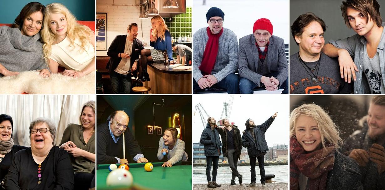 Tiedätkö, mitä sukua he ovat toisilleen? Kuvat: Panu Pälviä, Jouni Harala, Juha Salminen, Mikko Hannula