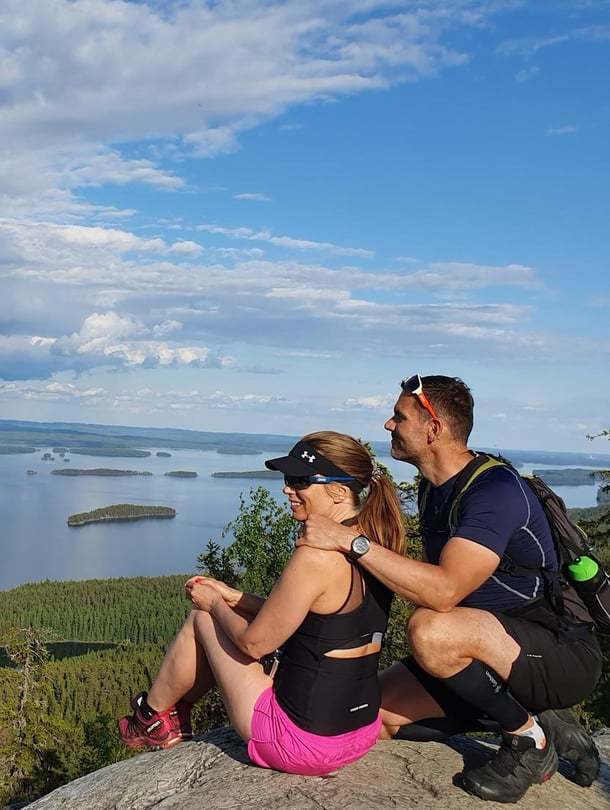 Ukko-Kolin huipulta avautuvat Kolin tunnetuimmat näkymät kauas Pielisen ylle.