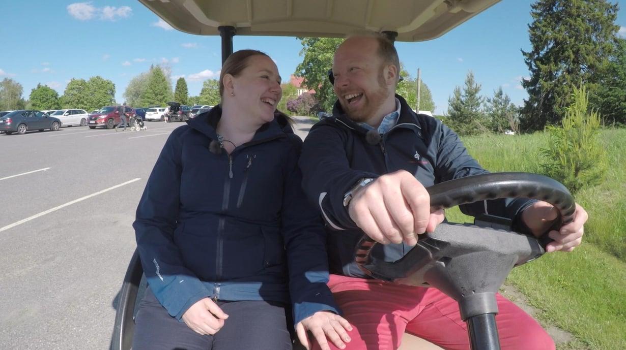 Anniinalla ja Villellä tuntuu aina olevan hauskaa yhdessä.