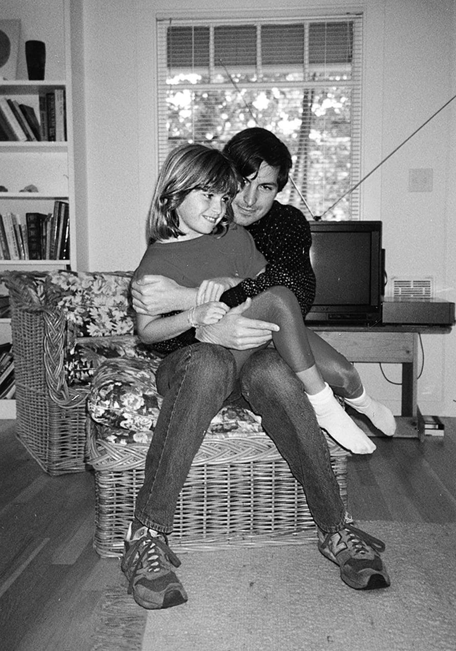 Lisa ja isä, Steve Jobs. Pikkusintin kuvituskuva.