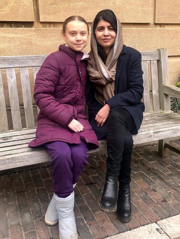 "Greta Thunberg ja Malala Yousafzai. Kuva: <span class=""photographer"">Reuters / Facebook</span>"