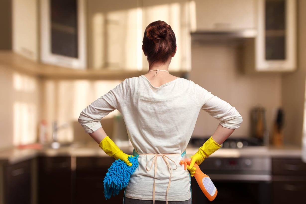 Ihanaa, omaa keittiötä siivoamaan!