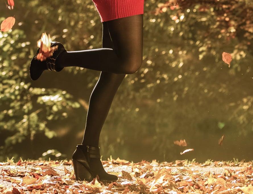 Valitse sukkahousujen koko mieluummin yläkanttiin kuin alakanttiin.