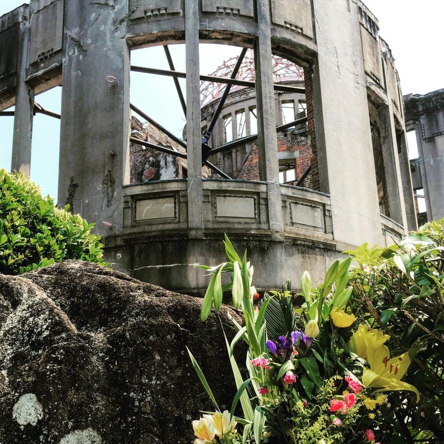 Hiroshiman raunioita.