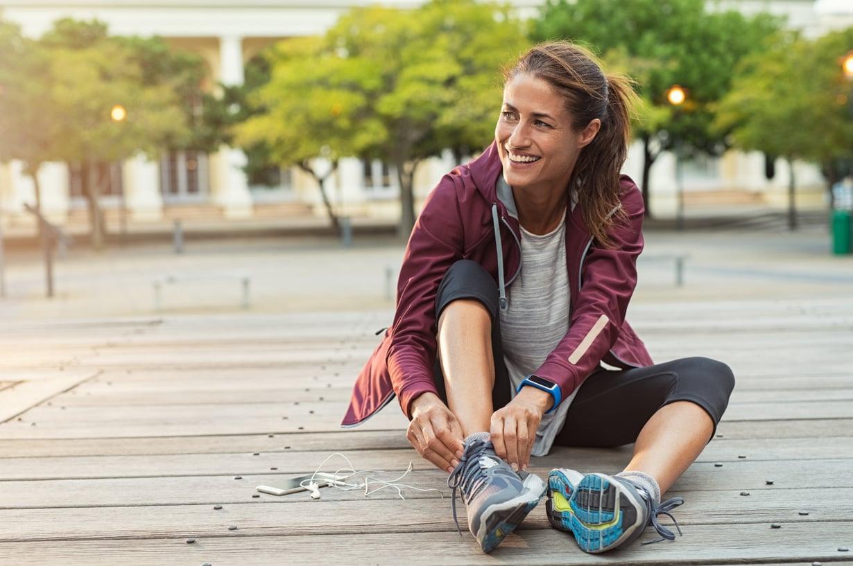 Usko pois! Kahdeksan viikkoa riittää juoksukunnon rakentamiseen, vaikka et olisi ennen juuri lenkkareita kuluttanut. Kuva: Shutterstock.