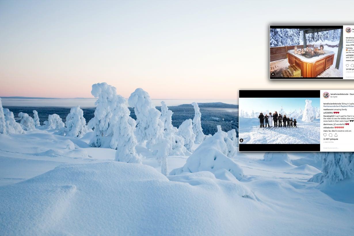 Näin onnistuu yli kymmenen henkilön talviloma! Taina Licciardo-Toivola näyttää. Kuvat: Shutterstock ja Instagram