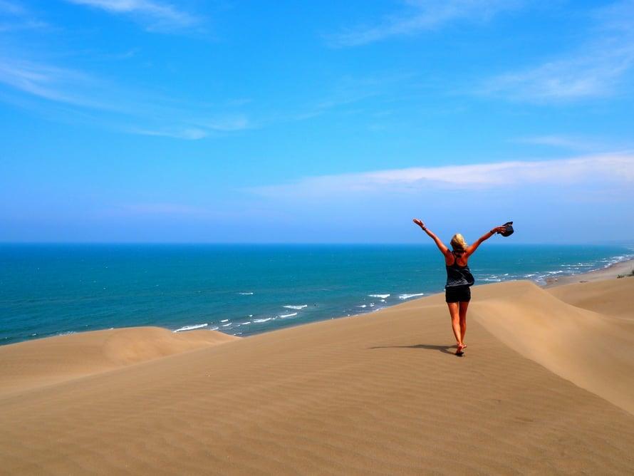 Meksikossa Eveliina nautti muun muassa rantaelämästä.