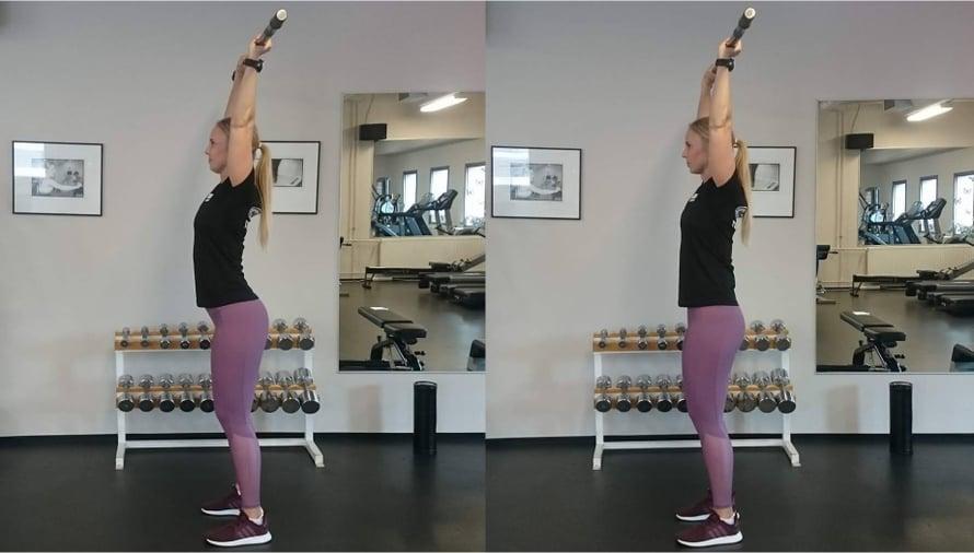 Kun lavoista ei saa treeniin tarpeeksi tukea, selkä vääntyy mutkalle. Kun keskivartalon pitää piukkana, selkäkin pysyy suorana.