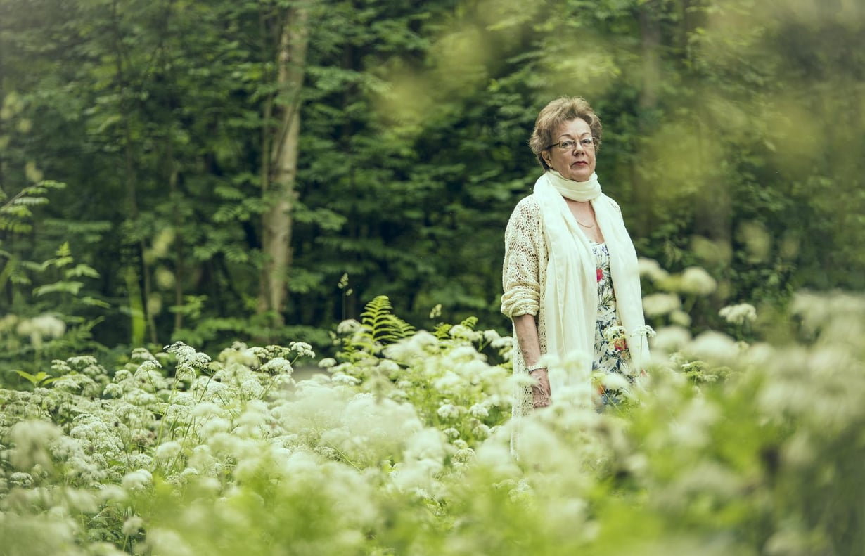 Eläkeläinen Maj Aldén haluaa kuoltuaan luonnonkukkia arkulleen.