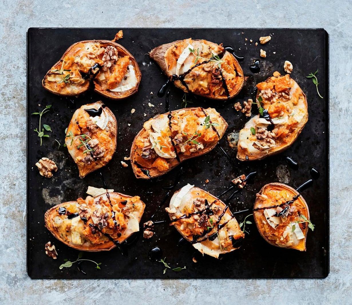 Bataattiveneistä saa mahtavan kasvisaterian, jonka voi syödä kuorineen päivineen.