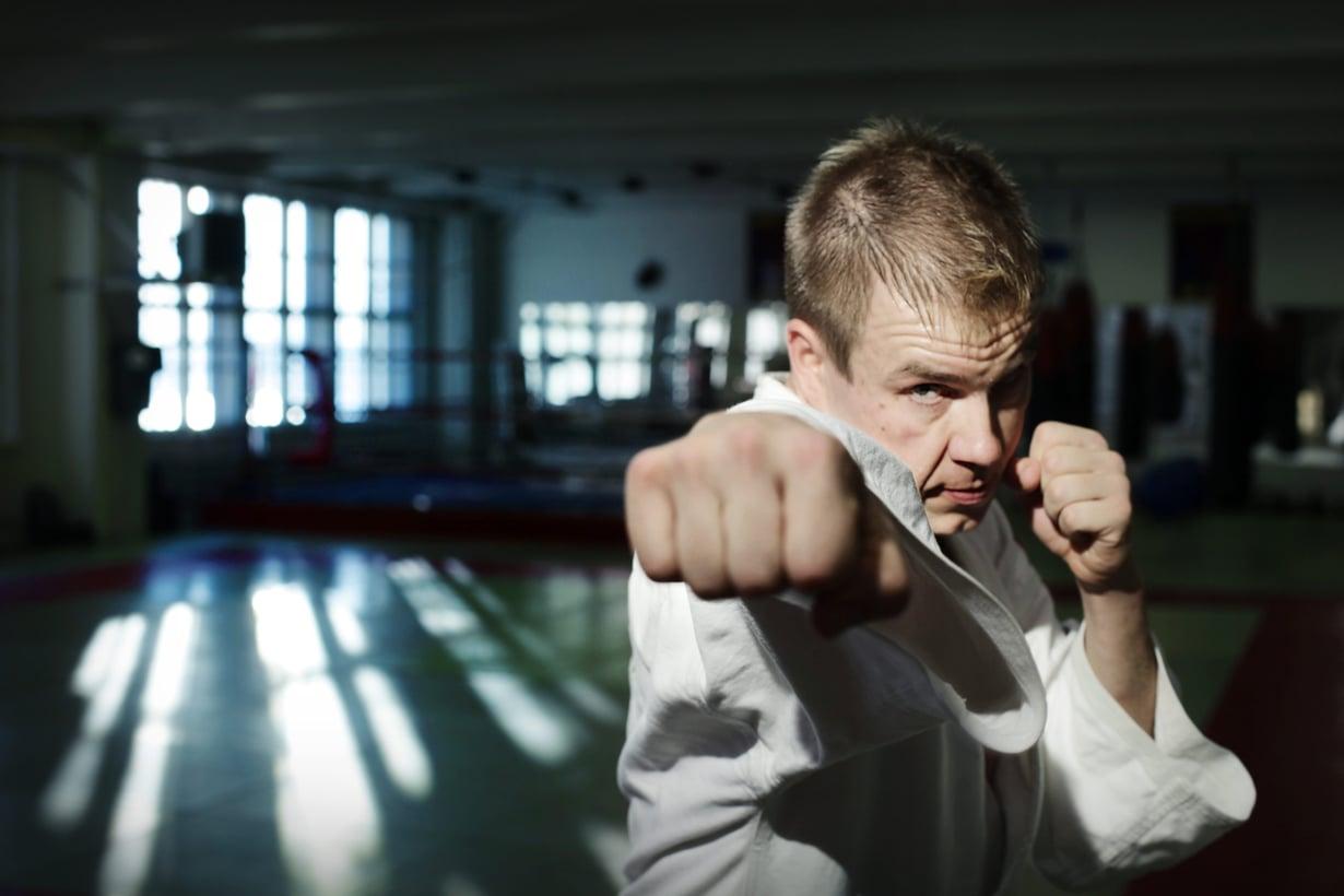 Kun biletys jäi, Jaakko Rytsölä alkoi harrastaa jujutsua. Kuva vuodelta 2009. Kuva: Sanoma-arkisto