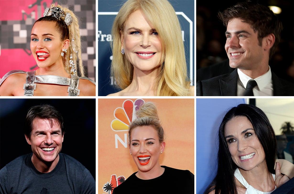 Julkkiksetkaan eivät synny täydellisten hampaiden kanssa. Muun muassa Miley Cyrus, Nicole Kidman, Zac Efron, Tom Cruise, Hilary Duff ja Demi Moore ovat korjauttaneet hymyään.