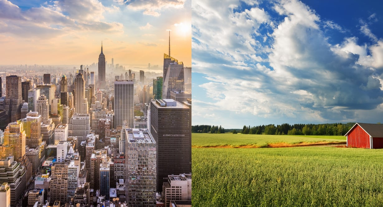 Vetoaako sinuun kaupungin vilinä vai maalaisidylli?