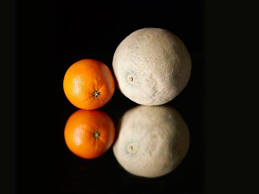 Vaatii vähän totuttelua vaihtaa melonit appelsiineihin.