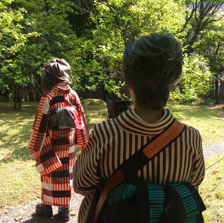 Yusentei-puisto on suosittu selfiepaikka.