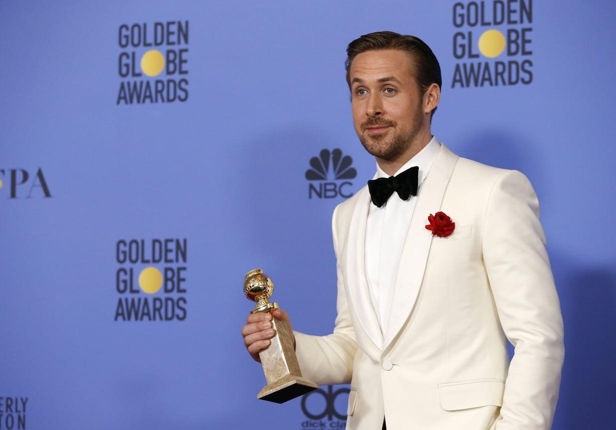Ryan Gosling vuoden 2017 Golden Globe -gaalassa. Kuva: Reuters / Mario Anzuoni
