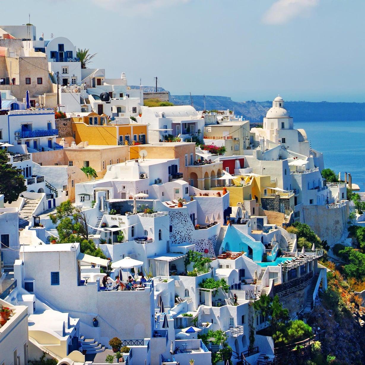 Kreikan Santorini on aina ihana. Kuva: Shutterstock