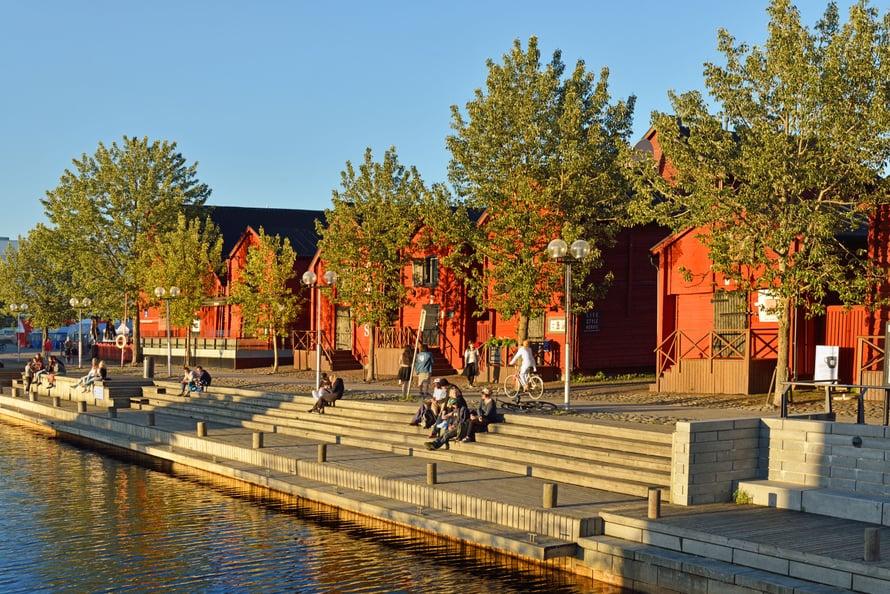 Torinranta. Kollektiivinen kokoontumispaikka Oulussa. Kuva: Shutterstock