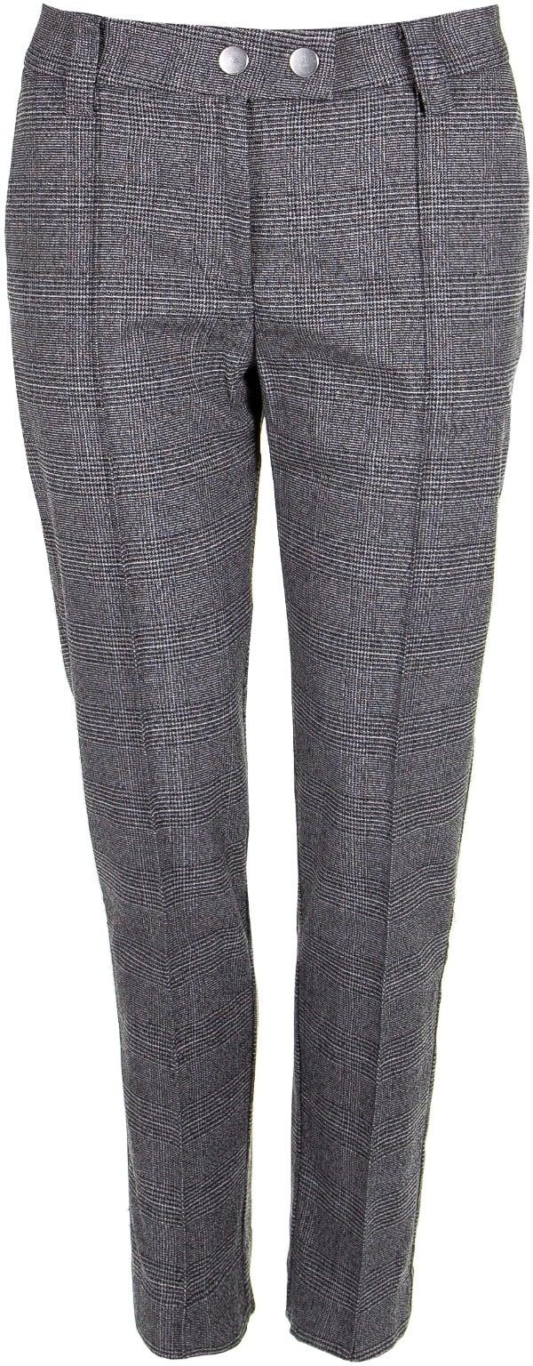 Villakangasta jäljittelevä harmaa ruutukuosi on ajaton ja housujen malli mukavan väljä, 29,90 €, London Fog.