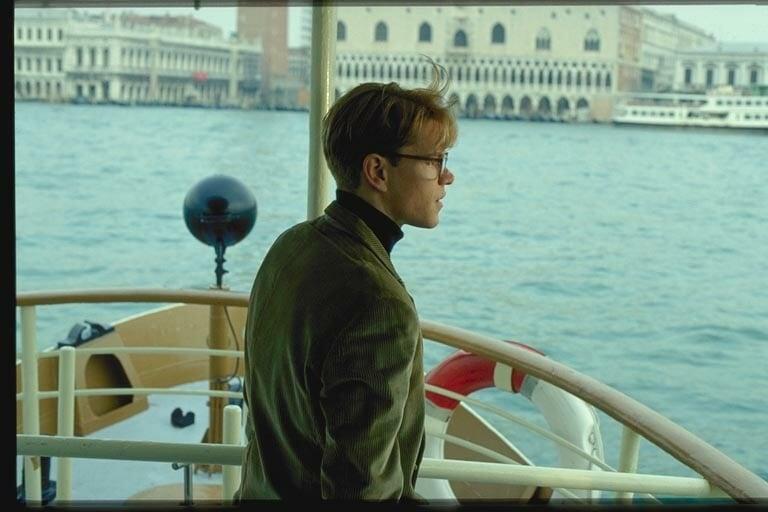 Matt Damon on Tom Ripley vuonna 1999 ilmestyneessä Lahjakas herra Ripley -elokuvassa.