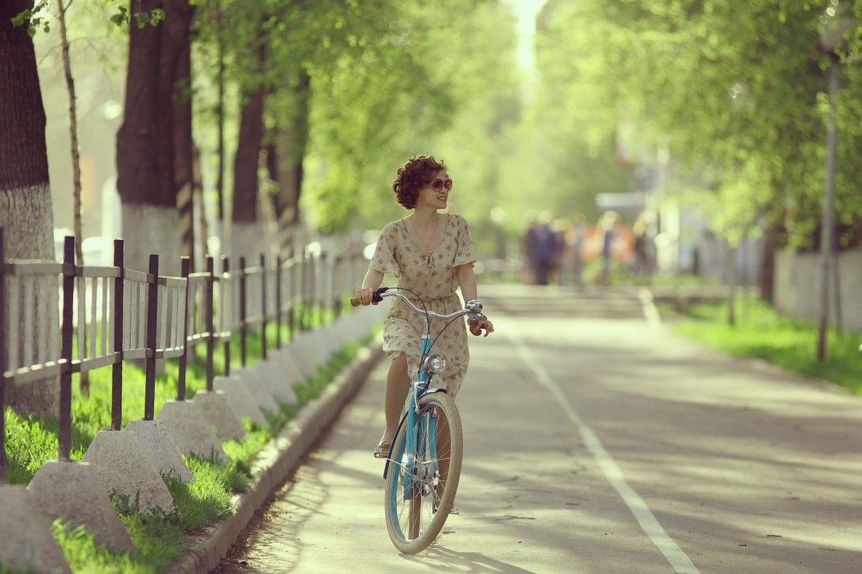 Introvertti nauttii pyöräretkestäkin mieluusti ihan omassa seurassaan.