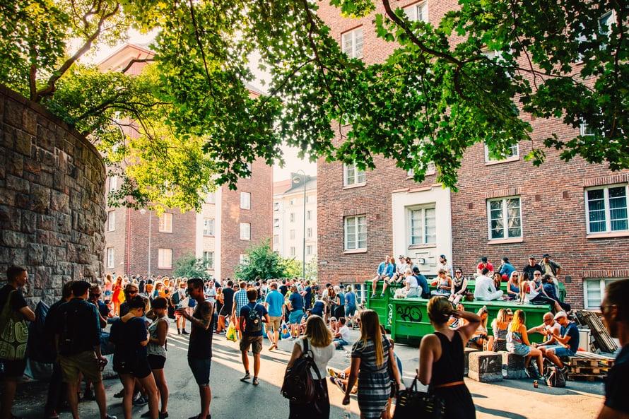 Kallio Block Party -lähiöfestivaali järjestetään elokuussa. Kuva: Visit Helsinki / Jussi Hellsten